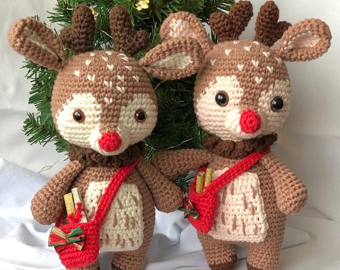Didi the Christmas Reindeer- Handmade by Omanel