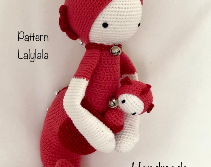 Ronda the Seahorse with baby - Handmade by Omanel