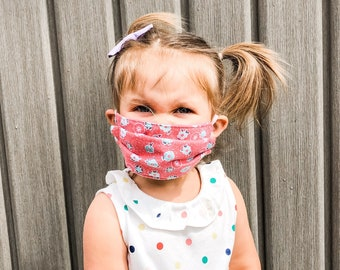 Small Toddler / Kids Cotton Face masks two layer Little Lady A. Baby masks