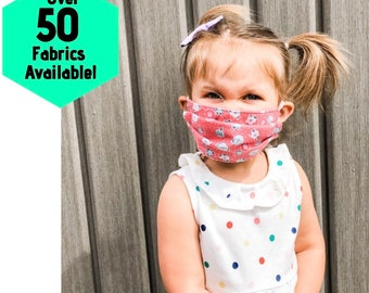 Washable Toddler & Adult Face Masks, Teenager, Adult Face Mask, Two Layer Protection, Little kid   Child   Teen   Family kids