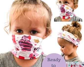 Kids GAITER Face Mask   Reusable   Washable   Little Kid & Big Kid  Lightweight   Kids Neck Gaiter