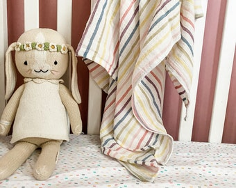 "Swaddle Blanket - oversized Muslin- super snuggly and soft - 54""x54"" - baby Muslin blanket - double gauze blanket - baby blanket -"
