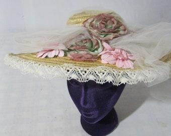 Edwardian Reproduction straw hat