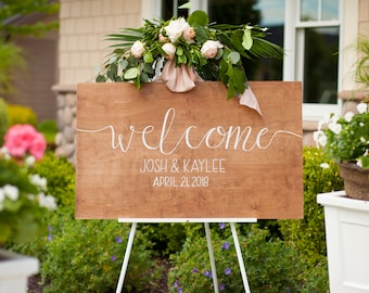 Welcome Sign - great for weddings and all events