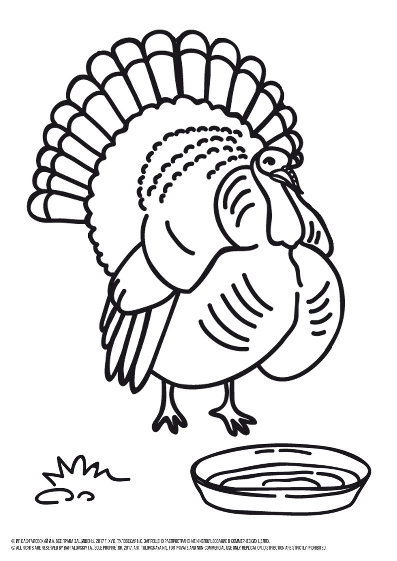 Turkey Coloring Page Turkey Coloring Sheet Turkey To Color Etsy