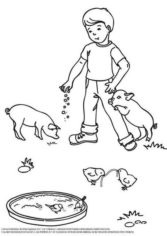 Pig Coloring Page Printable PDF, Picture of Pig Coloring Page, Baby Pig  Coloring Page, Cute Pig Coloring Page, Farm Coloring Page