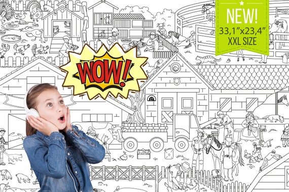 Giant Coloring Poster XXL Coloring Poster Coloring Sheets Etsy