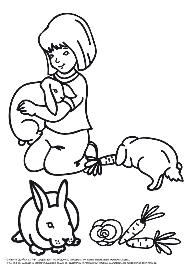 Girl Coloring Pages Bunny Coloring Pages Rabbit Coloring Etsy