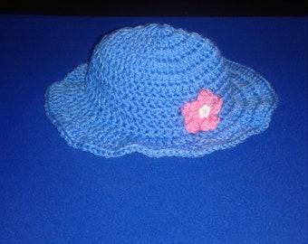 Little girls crochet sun hat