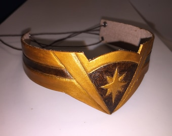 Child Wonder Woman Head Band - Hand Made Leather