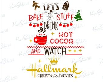 Hallmark Christmas Shirt Svg.Watch Hallmark Svg Etsy
