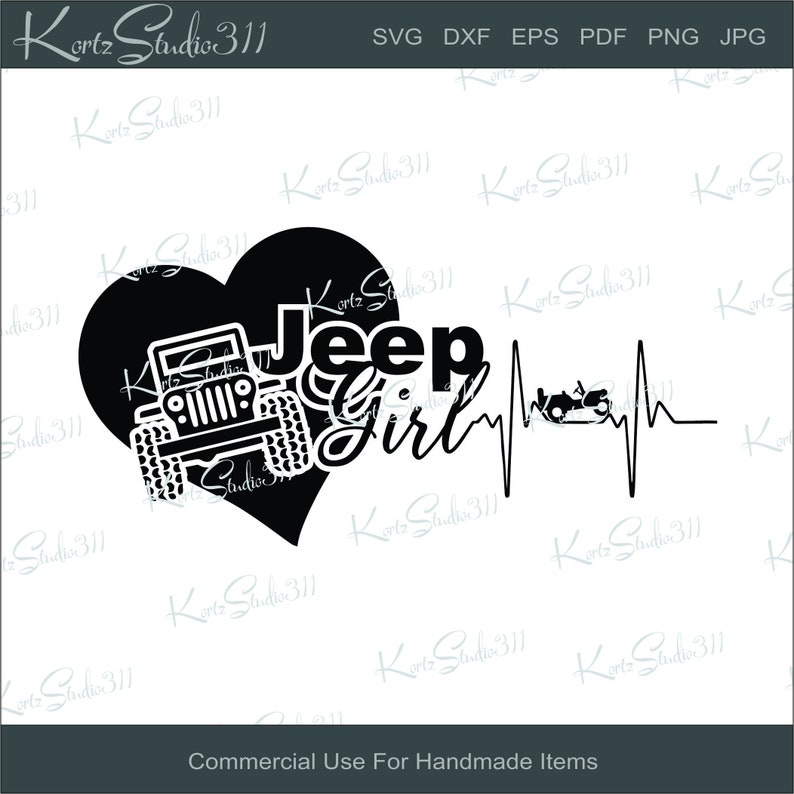 Svg Jeep Girl Instant Download Eps Dxf Cut File For Etsy