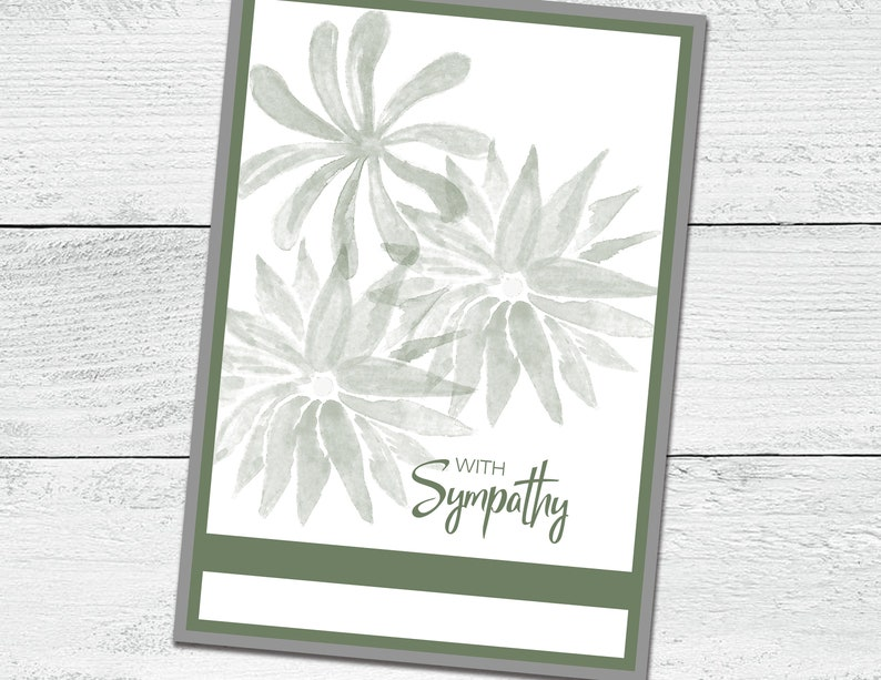 Printable Greeting Card With Sympathy Verse Inside Instant Download SC101 Digital PDF File 5x7 Greeting Card