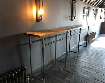 Bar height table - Bespoke industrial style, measurements to suit your needs.