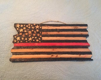 Distressed Thin Red Line Flag