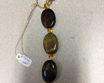 Jasper and Citrine keychain