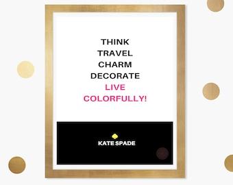 Kate spade print | Etsy