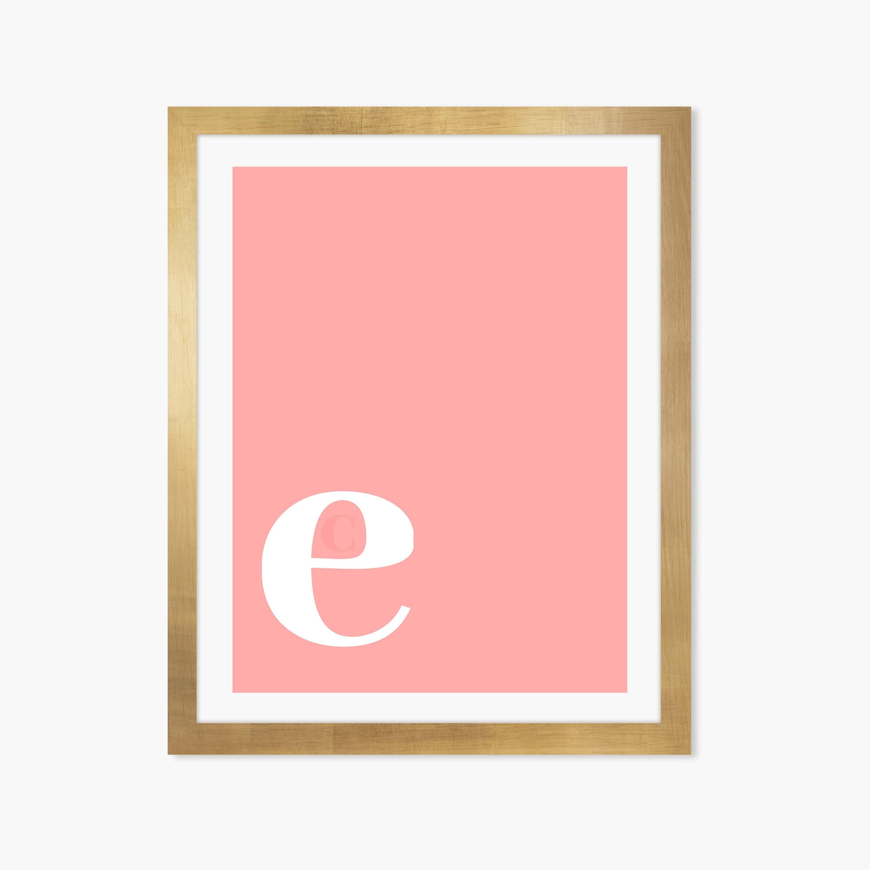 Letter E Print Letter E Poster Letter E Printable Letter E | Etsy