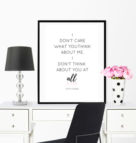 Coco Chanel Quotes Chanel Print Coco Chanel Art Chanel Etsy