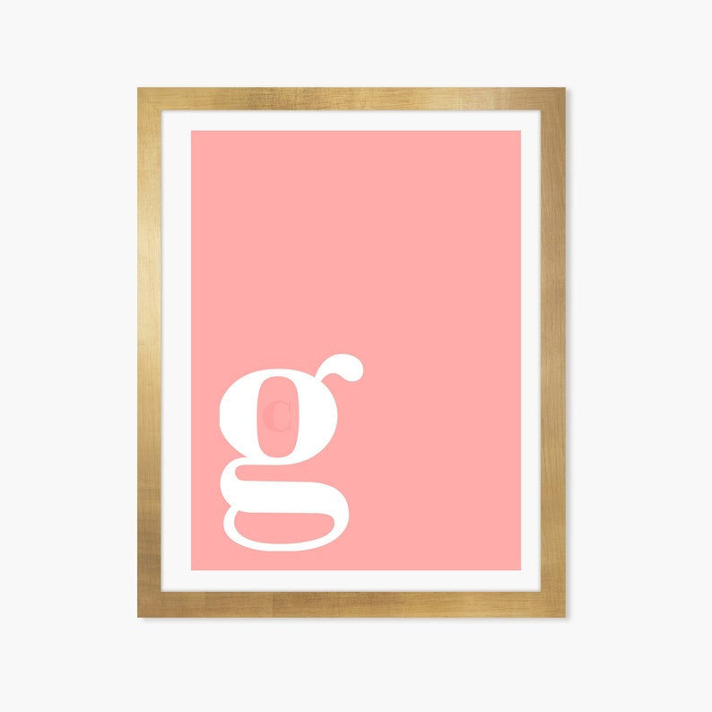 graphic about Letter G Printable titled Letter G Print, Letter G Poster, Letter G Printable, Letter G Wall Artwork, Alphabet Print, Letter Wall Artwork, First Artwork, Wall Decor