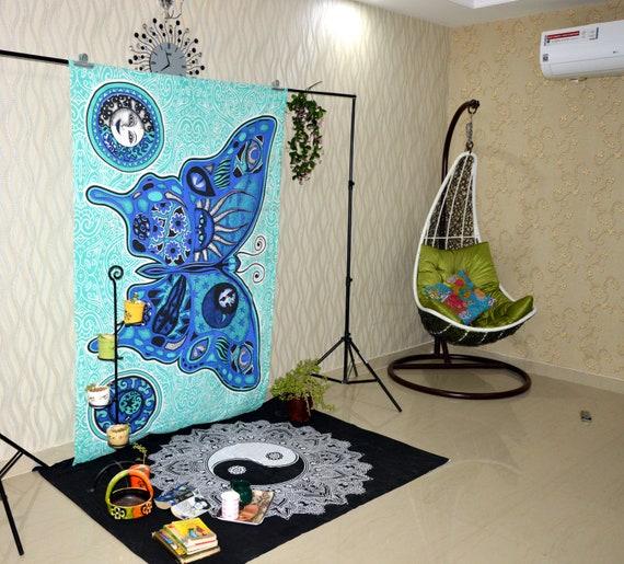 150x100 cm AUTBMP Fum/ée Champignons Tapisserie Murale Hippie Art Tapisserie Tenture Murale D/écoration