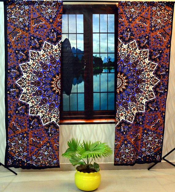 Mandala Curtains Window Wall Drapes Panel Boho Hippie Tapestry Room Decor Mn 7 Curtains Drapes Valances Home Garden