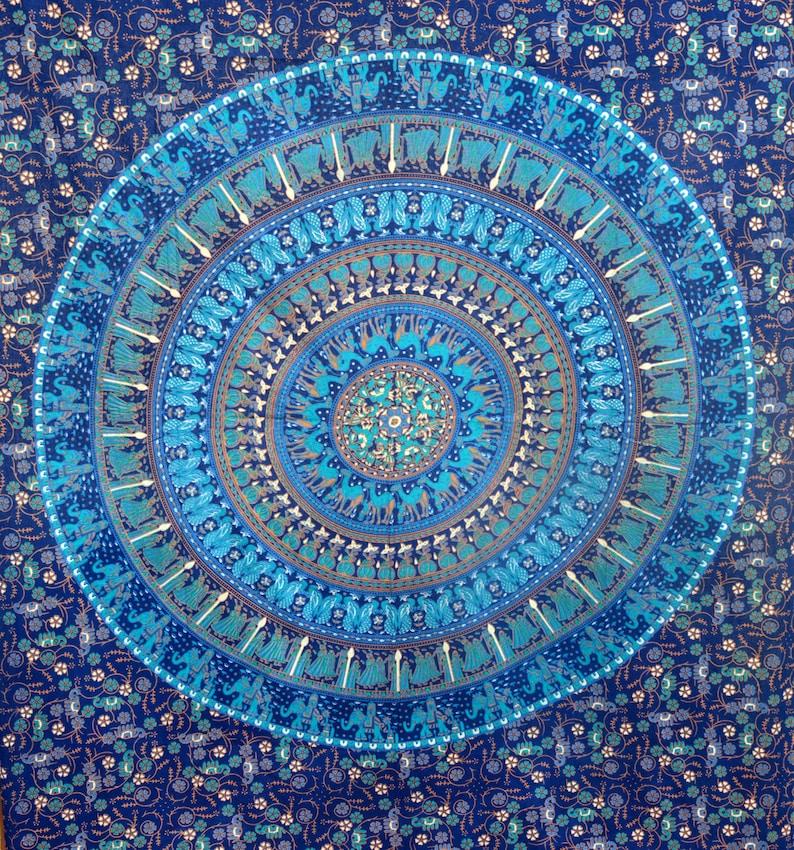 Indian cotton tree of mandala tapestry boho hippie wall hanging twin//single size