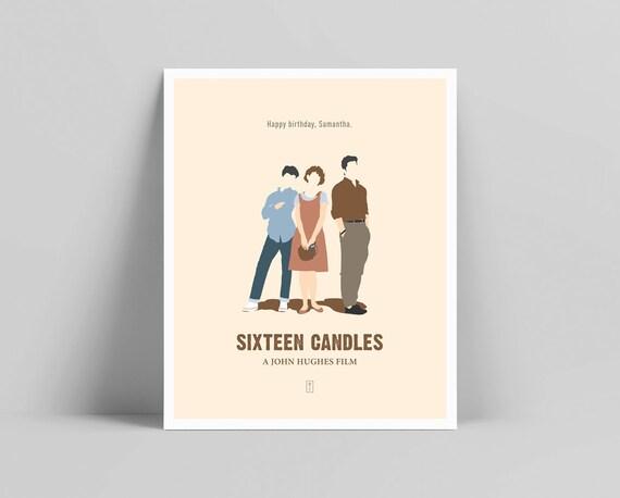 Sixteen Candles Poster minimalista John Hughes stampa  329ceebeed24