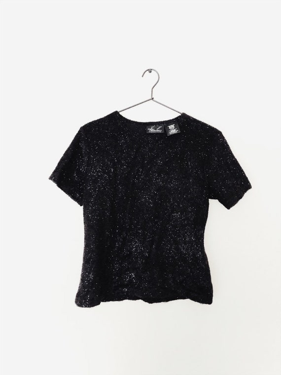 Vintage Cropped Sparkle Sweater