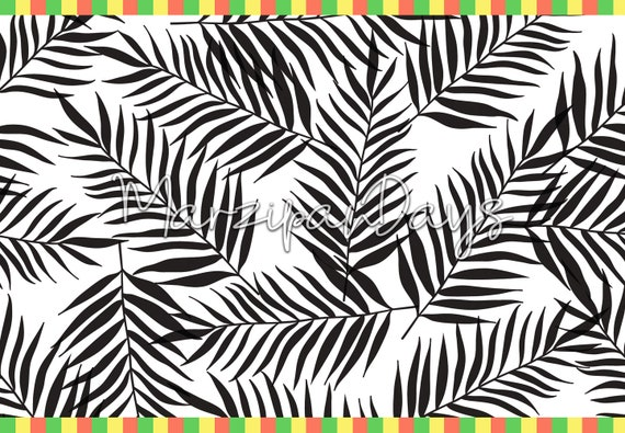 Black Palm Wallpaper Palm Leaves Removable Wallpaper Monochrome Floral Wall Mural Wallpaper Roll Black And White Wall 7