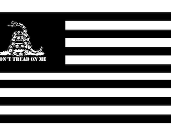 Don't Tread on Me American Flag SVG