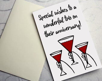 Happy Anniversary to a Special Triad - Anniversary Greeting Card for Non-Monogamous / Polyamorous People
