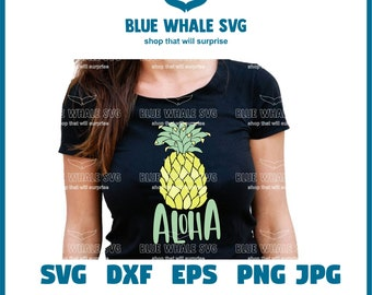 Aloha Beaches SVG, Instant & Digital Download, For Silhouette and Cricut, PNG, Studio.3, DIY, Personal and Commercial Use, Pineapple,