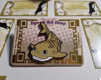 Tiger Shark Enamel Pin