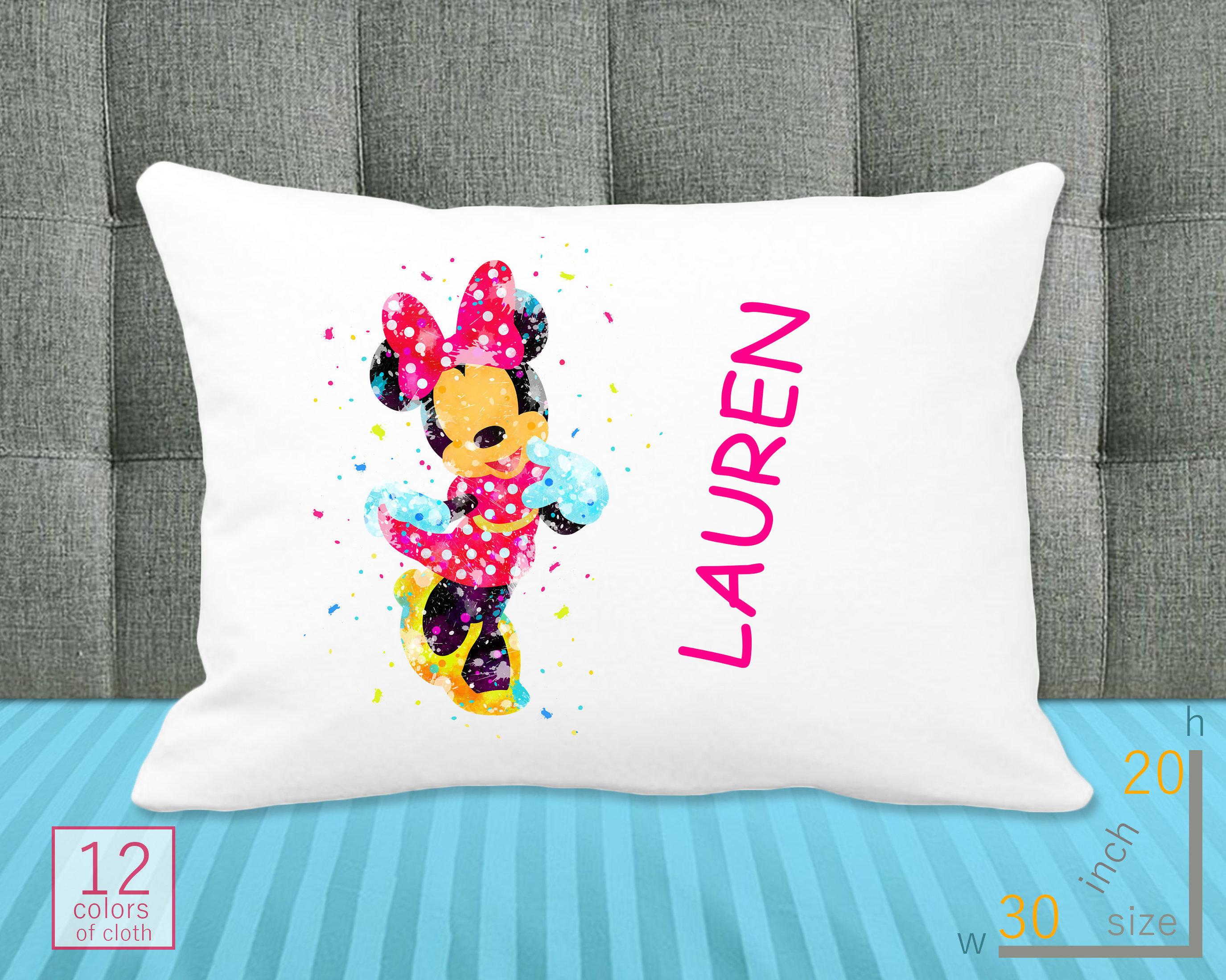 Disney Minnie /& Mickey mouse Love Wedding Linen Pillow Case cover Home Decor