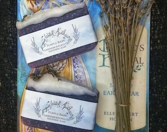 Purple Rain Lavender Soap / Palm Free Coconut Oil Soap / Lavender Essential Oil Soap / Natural Soap / Synthetic Free Soap / Skin Softening