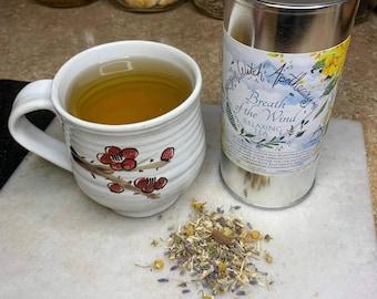 Breath of the Wind Relaxing Tea / Calming Tea / Anxiety Tea / Nerve Tea / Loose Leaf Tea / Tea for Relaxation / Tea Tin