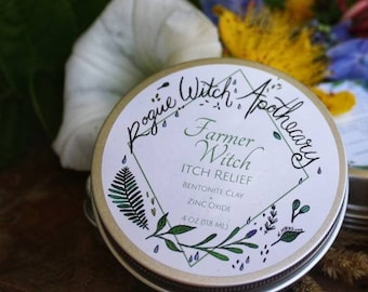 Farmer Witch Itch Relief / Bug Bite Relief / Bug Bite Salve / Eczema Itch Relief / Rash Itch Relief / Itch Relief Salve / Bug Bite Salve