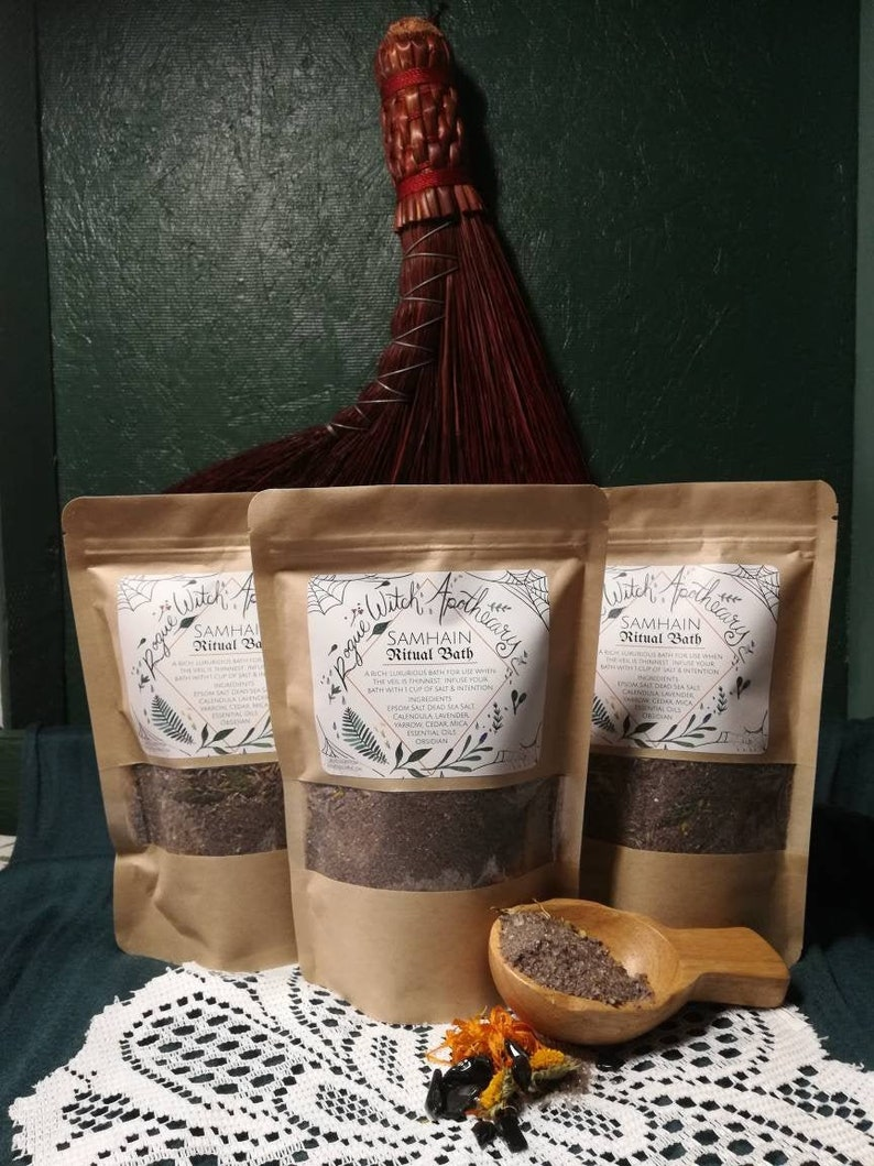 Samhain Ritual Bath / Bath Salt / Bath Soak / Herbal Bath / image 0