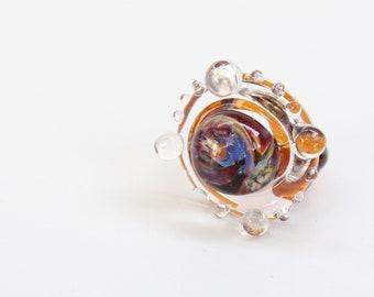 Glass Ring - Borosilicate Glass - Magic of Emotion - Great gift - Unique copy - Handmade