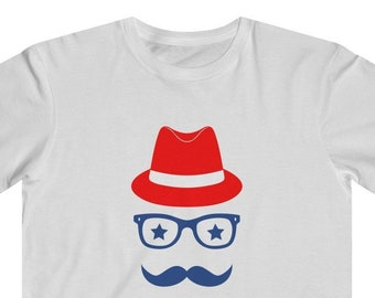 d826b7ef807f6 4th Of July Hipster Kids Fine Jersey Tee
