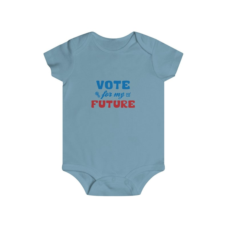 2020 General Election Infant Bodysuit US Elections Vote For My Future Baby Shower Gift Boy Girl Rip Snap Tee Register To Vote