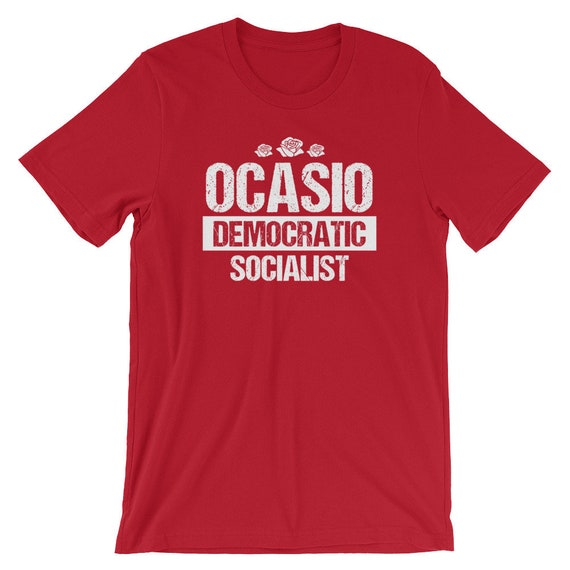 Ocasio Democratic Socialist Shirt Red Rose Symbol Shirt Etsy