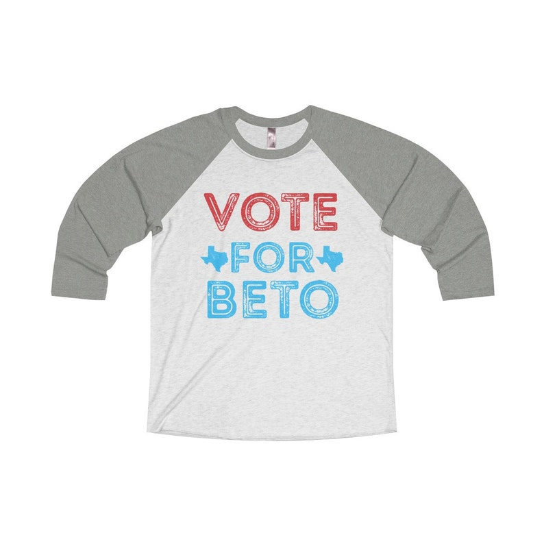 548d3cc3 Vote For Beto Unisex TriBlend 3/4 Baseball Tee Beto ORourke | Etsy