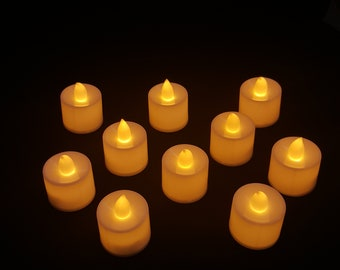 adyah led tea lights 10pcs flameless candles set reuseable electric tealights candles party wedding birthday christmas decoration
