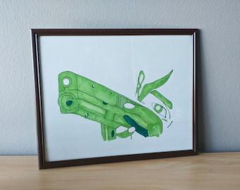 Green Gun drawing pen