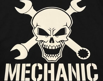 Mechanic Skull and Wrenches Tshirt
