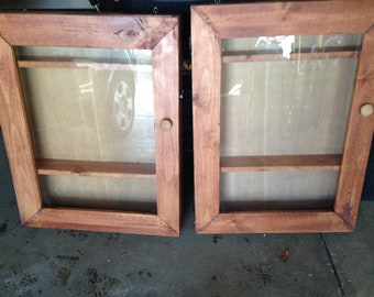Wood display cabinets