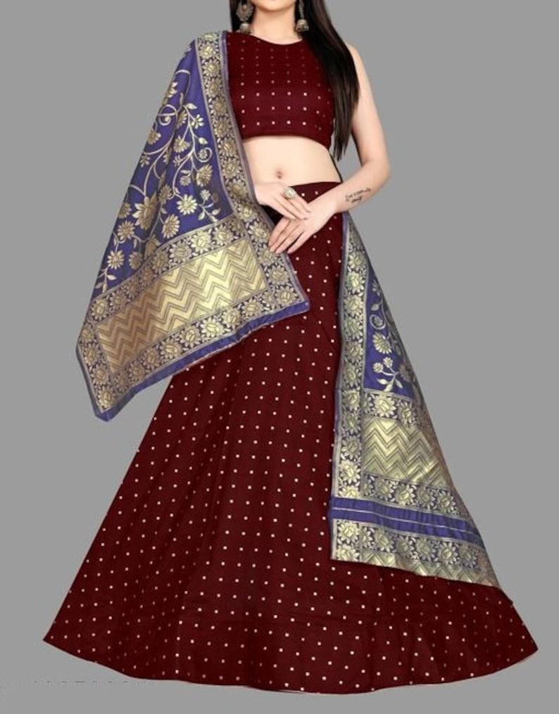 Woven Design Exclusive Designer Women Party Wear Lehengas Choli Dupatta With Soft Silk,Ghaghra Choli,Women Lehengas,Soft Silk Work Dress