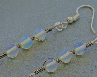 Opalite  bead earrings